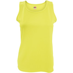 textil Dame Toppe / T-shirts uden ærmer Fruit Of The Loom 61418 Bright Yellow