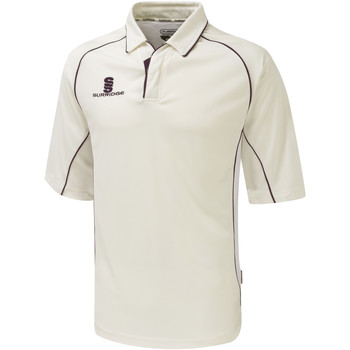 textil Herre Polo-t-shirts m. korte ærmer Surridge SU001 White/Maroon trim