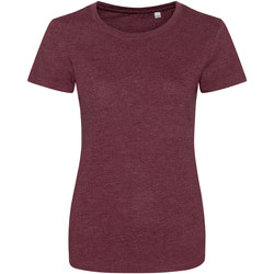 textil Dame T-shirts m. korte ærmer Awdis JT01F Heather Burgundy