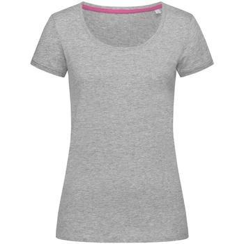 textil Dame T-shirts m. korte ærmer Stedman Stars  Heather Grey
