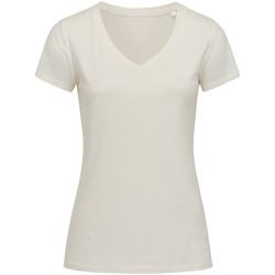 textil Dame T-shirts m. korte ærmer Stedman Stars Janet Winter White