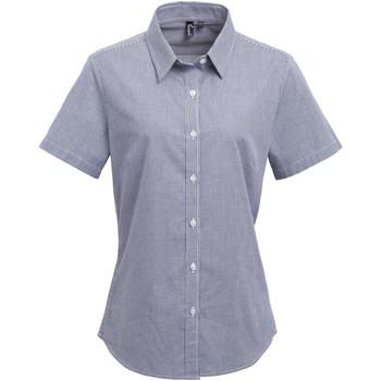 textil Dame Skjorter / Skjortebluser Premier PR321 Navy/White
