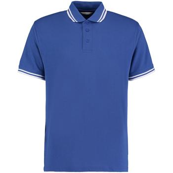 textil Herre Polo-t-shirts m. korte ærmer Kustom Kit KK409 Royal/White