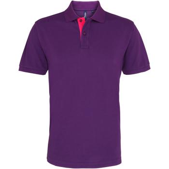 textil Herre Polo-t-shirts m. korte ærmer Asquith & Fox AQ012 Purple/ Pink