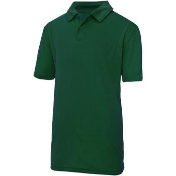 textil Børn Polo-t-shirts m. korte ærmer Just Cool  Bottle Green