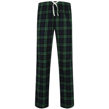 textil Herre Pyjamas / Natskjorte Skinni Fit SFM83 Navy/Green Check