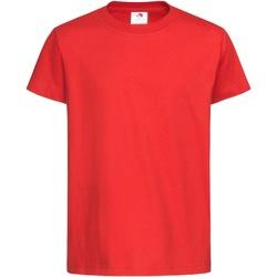 textil Børn T-shirts m. korte ærmer Stedman  Scarlet Red