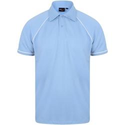 textil Herre Polo-t-shirts m. korte ærmer Finden & Hales Piped Sky/Navy/White