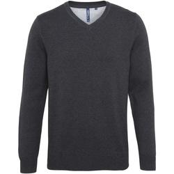 textil Herre Pullovere Asquith & Fox AQ042 Black Heather