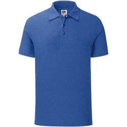 textil Herre Polo-t-shirts m. korte ærmer Fruit Of The Loom Iconic Heather Royal