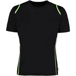 textil Herre T-shirts m. korte ærmer Gamegear Cooltex Black/Flourescent Lime