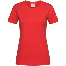 textil Dame T-shirts m. korte ærmer Stedman  Scarlet Red