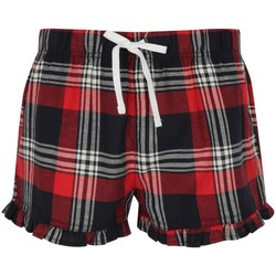 textil Dame Shorts Skinni Fit SK082 Red/Navy Check