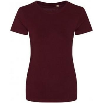 textil Dame T-shirts m. korte ærmer Ecologie EA01F Burgundy