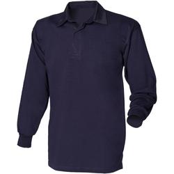 textil Herre Polo-t-shirts m. lange ærmer Front Row FR100 Navy/Navy