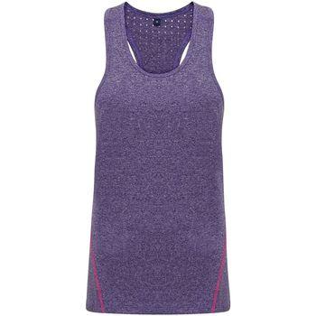 textil Dame Toppe / T-shirts uden ærmer Tridri TR041 Purple Melange