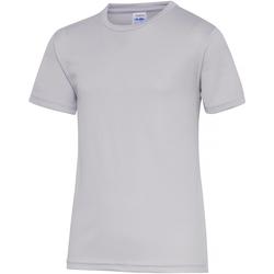 textil Børn T-shirts m. korte ærmer Awdis JC01J Heather Grey