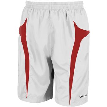 textil Herre Shorts Spiro S184X White/Red