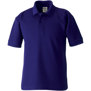 textil Børn Polo-t-shirts m. korte ærmer Jerzees Schoolgear 65/35 Purple