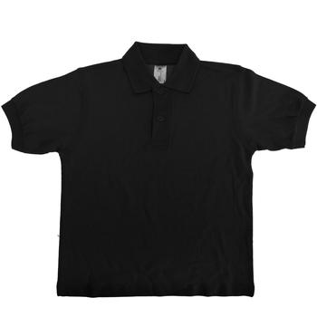 textil Børn Polo-t-shirts m. korte ærmer B And C PK486 Black