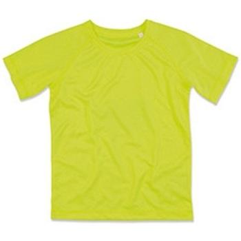 textil Børn T-shirts m. korte ærmer Stedman  Cyber Yellow