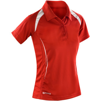 textil Dame Polo-t-shirts m. korte ærmer Spiro S177F Red/White