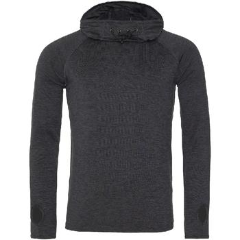 textil Dame Langærmede T-shirts Awdis Cowl Neck Black Slate Melange