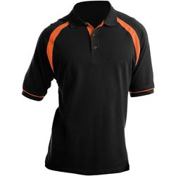 textil Herre Polo-t-shirts m. korte ærmer Kustom Kit KK615 Black/Orange