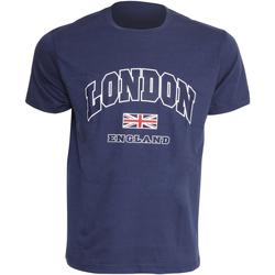 textil Herre T-shirts m. korte ærmer England  Navy