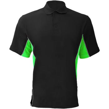 textil Herre Polo-t-shirts m. korte ærmer Gamegear KK475 Black/Lime/White