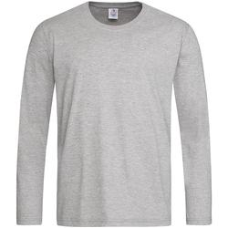 textil Herre Langærmede T-shirts Stedman  Heather Grey