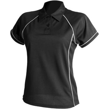 textil Dame Polo-t-shirts m. korte ærmer Finden & Hales LV371 Black/White