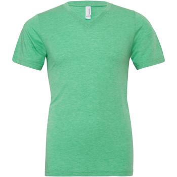 textil Herre T-shirts m. korte ærmer Bella + Canvas CA3415 Green Triblend