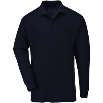 textil Herre Polo-t-shirts m. lange ærmer Casual Classics  Navy