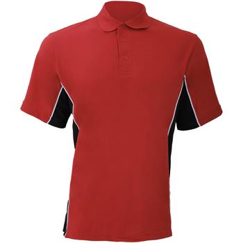 textil Herre Polo-t-shirts m. korte ærmer Gamegear KK475 Red/Black/White