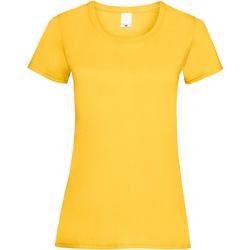 textil Dame T-shirts m. korte ærmer Universal Textiles 61372 Gold