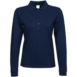 textil Dame Polo-t-shirts m. lange ærmer Tee Jays TJ146 Navy Blue