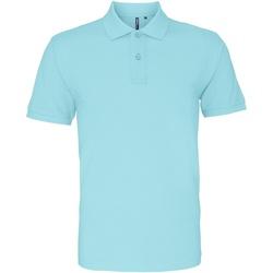 textil Herre Polo-t-shirts m. korte ærmer Asquith & Fox AQ010 Bright Ocean