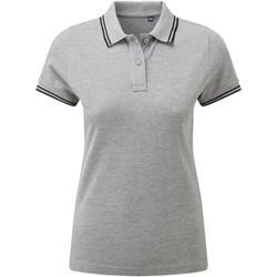 textil Dame Polo-t-shirts m. korte ærmer Asquith & Fox AQ021 Heather Grey/Black