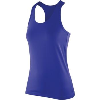 textil Dame Toppe / T-shirts uden ærmer Spiro S281F Sapphire