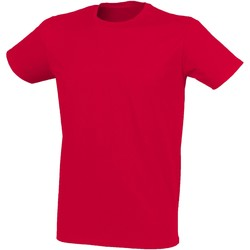 textil Herre T-shirts m. korte ærmer Skinni Fit SF121 Heather Red