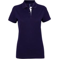 textil Dame Polo-t-shirts m. korte ærmer Asquith & Fox Contrast Navy/ White