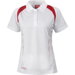 textil Dame Polo-t-shirts m. korte ærmer Spiro S177F White/Red