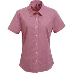 textil Dame Skjorter / Skjortebluser Premier PR321 Red/White