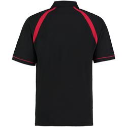 textil Herre Polo-t-shirts m. korte ærmer Kustom Kit KK615 Black/Bright Red