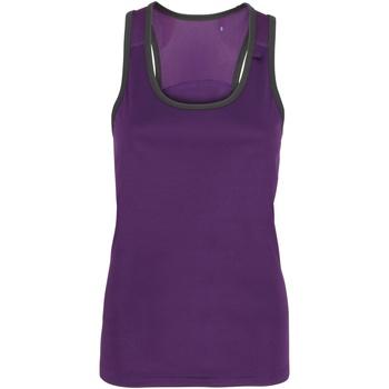 textil Dame Toppe / T-shirts uden ærmer Tridri TR023 Purple / Charcoal