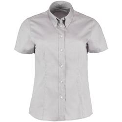 textil Dame Skjorter / Skjortebluser Kustom Kit KK701 Silver Grey
