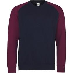 textil Herre Sweatshirts Awdis JH033 Oxford Navy/Burgundy