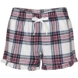 textil Dame Shorts Skinni Fit SK082 White/Pink Check