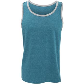 textil Herre Toppe / T-shirts uden ærmer Anvil 986 Caribbean Blue/ Heather Grey